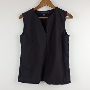 DKNY zipper front tank wool shirt with pockets 4